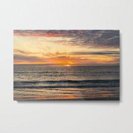 South Ponto Sunset Metal Print