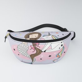 Mermaid & Unicorn Fanny Pack