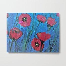 Poppies Red Metal Print