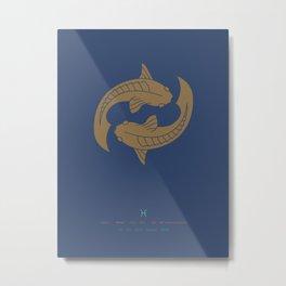 Pisces Zodiac / Fish Star Sign Poster Metal Print