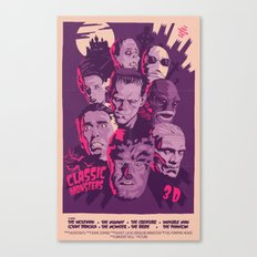 CLASSIC MONSTERS Canvas Print