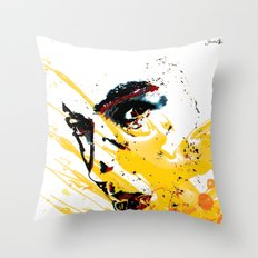 Street art yellow painting colors fashion Jacob's Paris Throw Pillow