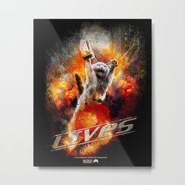9 Lives  Metal Print