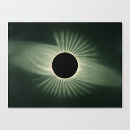Vintage Eclipse Illustration Canvas Print