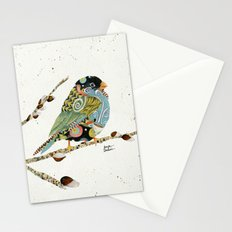 Cafe Swirly Bird 4 Stationery Cards