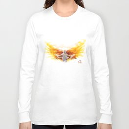 On Wings Like Eagles (Isaiah 40:31) Long Sleeve T-shirt