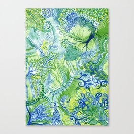 Growth - Watercolor abstract painting Canvas Print