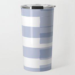 Big Stripes in Light Blue Travel Mug
