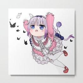 Kanna Chasing Butterflies v.2 Metal Print