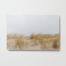 Photo of waving sea grass in the dunes, on the Dutch Wadden Island Texel, in the world heritage of the Waddensea | Fine Art Travel Photography | Metal Print