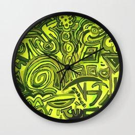 Green symbols Wall Clock