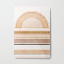 Minimal Geometric 118 Metal Print
