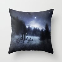pagan Throw Pillows featuring Pagan Night by Silvana Massa Art