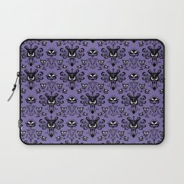Purple Haunted Mansion Wallpaper Laptop Sleeve