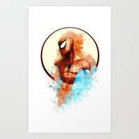 spider man Art Prints featuring Spider-Man by Rene Alberto