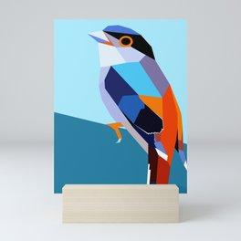 Colorful bird. Mini Art Print
