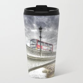 Battersea Bridge London Snow Travel Mug