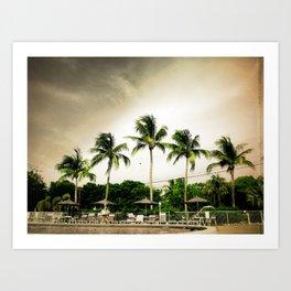 Palms by the Pool Art Print