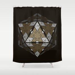 D20 Dwarven King Shower Curtain