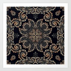Kaleidoscope No.15 - Black Tapestry Art Print
