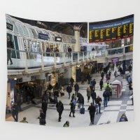 liverpool Wall Tapestries featuring Liverpool Street Station London by David Pyatt