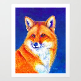 Vibrant Flame - Red Fox Art Print