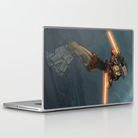 bouletcorp Laptop & iPad Skins featuring LaserGirl by Bouletcorp