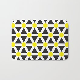 Geometric Pattern 116 (Yellow cross) Bath Mat