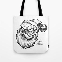 Santa Skully Tote Bag