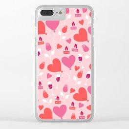 San Valentin hearts Clear iPhone Case