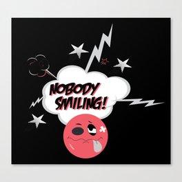 Nobody Smiling Emoji- Infrared Canvas Print
