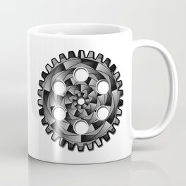 Gearwheel in black and white Coffee Mug