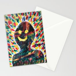 """Yeah"" Psychedelic Painting Stationery Cards"
