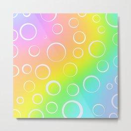Colorful Rainbow Gradient Design! Metal Print