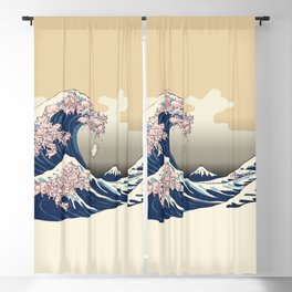 The Great Wave of Pigs Blackout Curtain