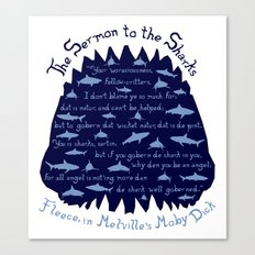 The Sermon to the Sharks Canvas Print
