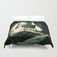rocky horror Duvet Covers featuring Horror by Joe Roberts