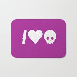 I Love Skulls Bath Mat