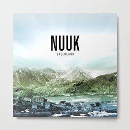 Nuuk Wallpaper Metal Print
