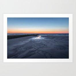 Sunset over the North Sea Art Print