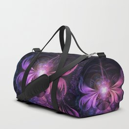 A Glowmoth of Resplendent Violet Feathered Wings Duffle Bag