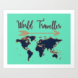 World Traveller Art Print