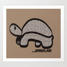 ANIMAL AID Art Print