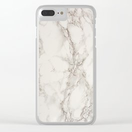 Marble Stone Texture Clear iPhone Case