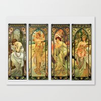 art deco Canvas Prints featuring Art Deco  by TheMorganWay