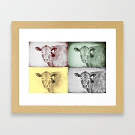 Here's Looking at Moo Framed Art Print