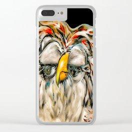 Flirtatious Owl Clear iPhone Case
