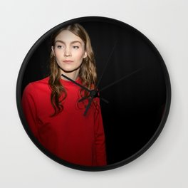 Lady in Red Wall Clock