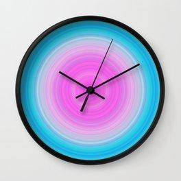 Pink & Aquamarine Circles Wall Clock