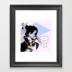 poster hero  Framed Art Print